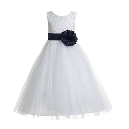 1cea2d1bfc2 Ekidsbridal - EkidsBridal Floral Lace Heart Cutout Ivory Flower Girl  Dresses Holy Communion Dresses Baptism Dress 172T - Walmart.com