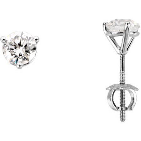 DIAMOND EARRING 14K White Gold PAIR 1 CT TW DIAMOND EARRING ONE PIECE DIAMOND EARRING