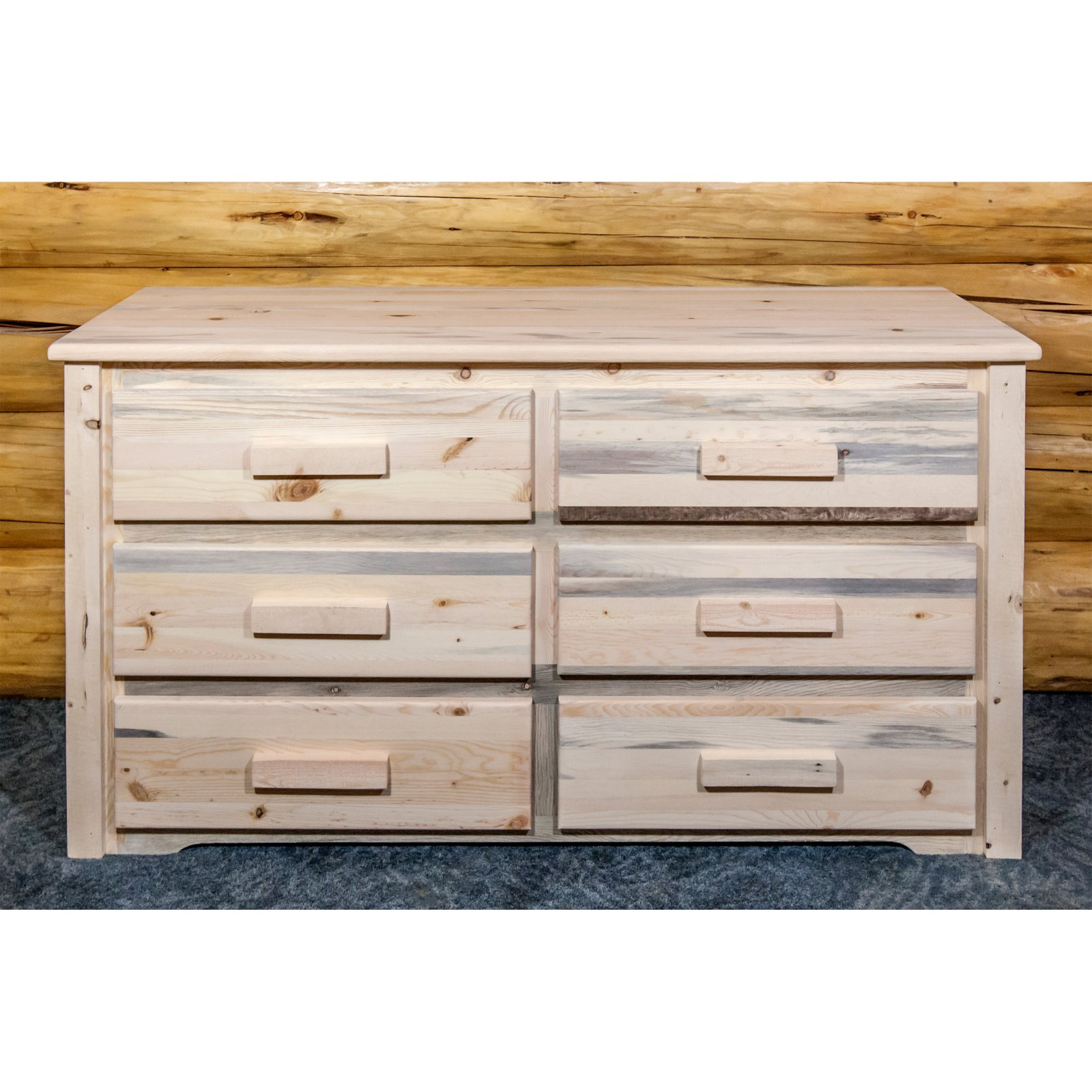 Homestead Collection 6 Drawer Dresser, Ready to Finish