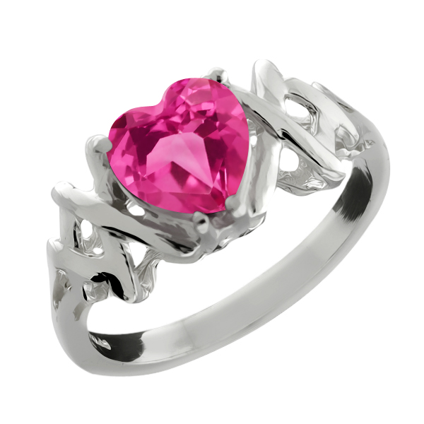 1.49 Ct Heart Shape Pink Mystic Topaz 925 Sterling Silver Ring