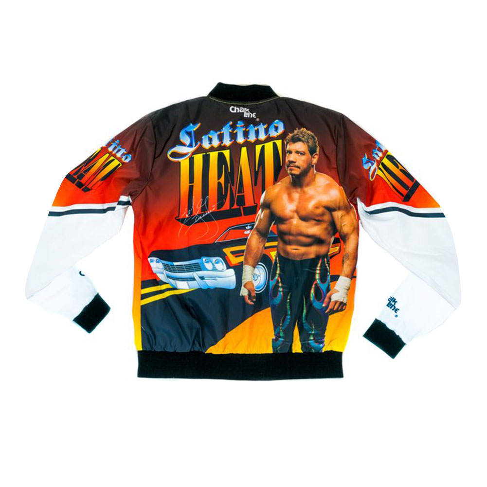 "Official WWE Authentic Eddie Guerrero ""Latino Heat"" Retro Fanimation Chalk Line Jacket by"