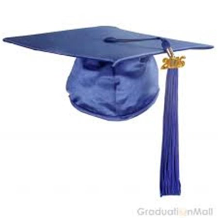 Beyco 4690bl Adult Graduation Cap, Blue - Tiny Graduation Cap