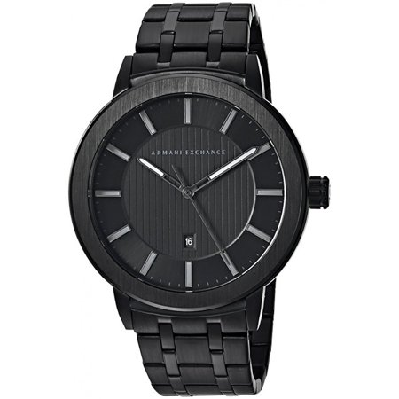 Armani Exchange Maddox Black Stainless Steel Mens Watch AX1457 (Black Stainless Steel Mens Watch)