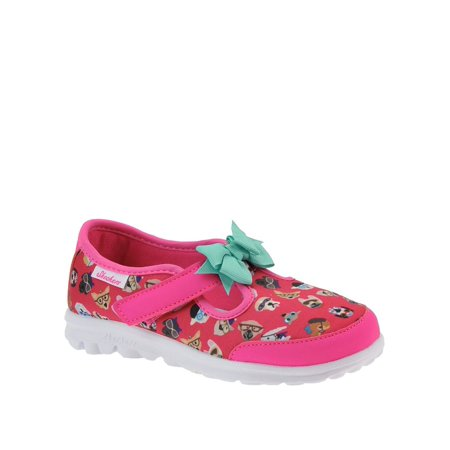 Skechers 81141N Girl's Go Walk Bow Wow Sneakers, Hot Pink/Multi, Size 3 M (Bow Wow Wow Go Wild In The Country)