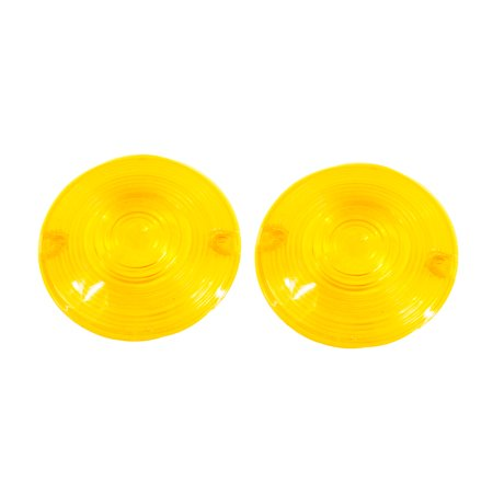 Blinker Yellow Lens OZ-USA® Classic Harley Touring Pancake Road King Glide Electra Turn Signal FL