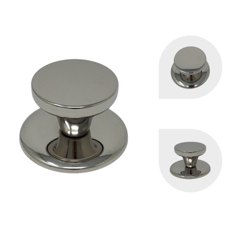 Melzon Cookware Universal Replacement Lid Knob – Stainless Steel, Rust Free Kitchen Pot Lid Handle, Gloss Finish (Lid Finish)