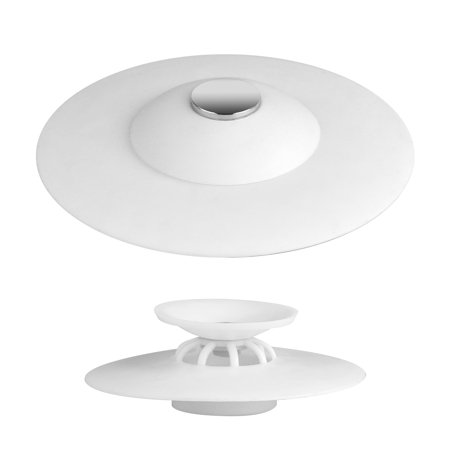 Rubber Bathroom Sink Plug, Rubber Kitchen Bathroom Drain Hair Catcher Stopper Plug Sink Strainer Filter for Floor, Laundry, Kitchen and Bathroom (Green/Blue/White)
