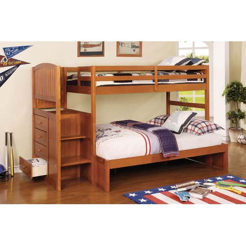 Harriet Bee Moses Twin Over Full Bunk Bed