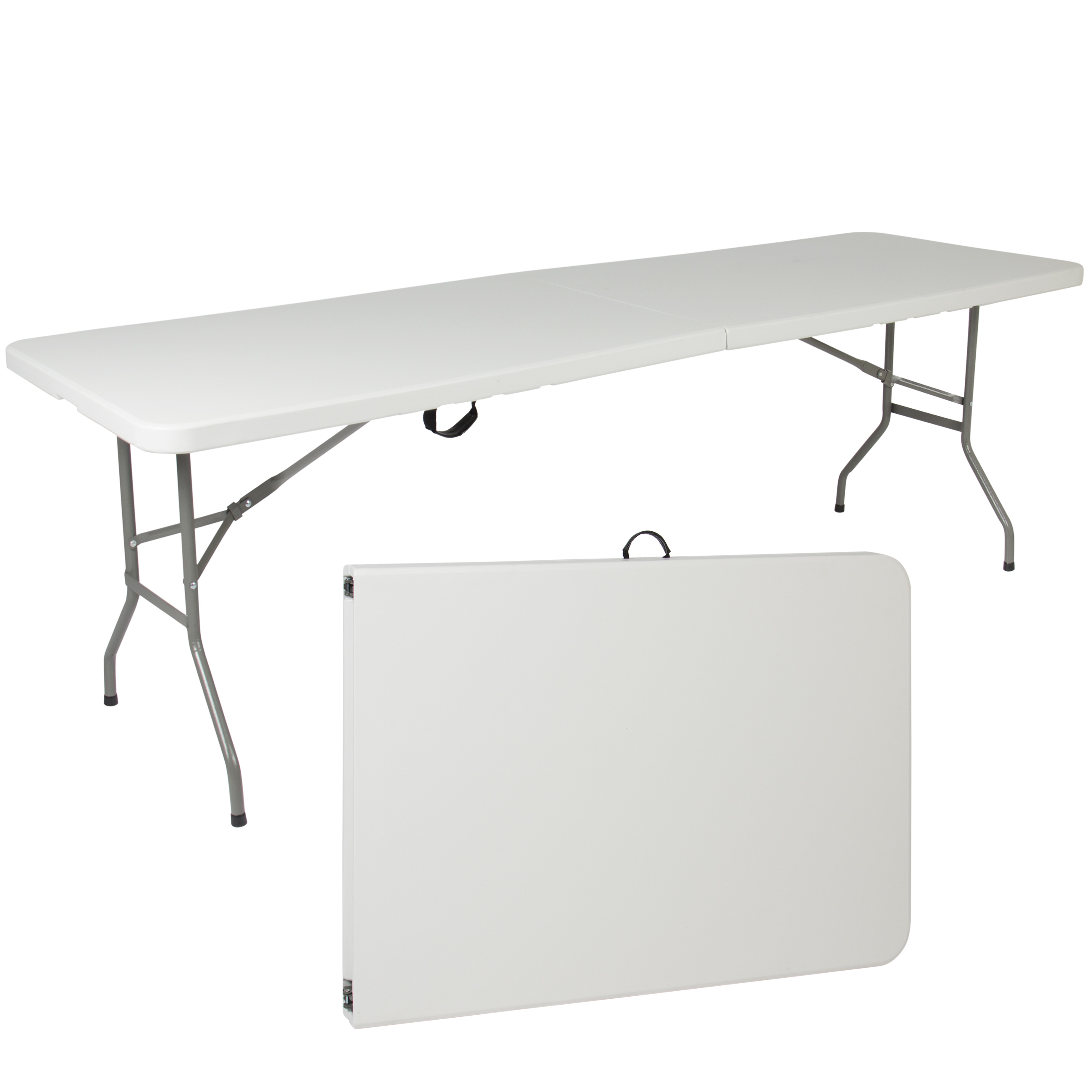 Attrayant Best Choice Products 8ft Folding Portable Plastic Table For Indoor,  Outdoor, Picnic, Party
