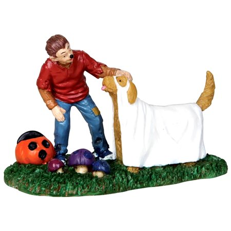 Lemax 32105 A WOLF AND HIS DOG Spooky Town Figurine Retired Halloween Decor (Halloween Town 1 Part 1)
