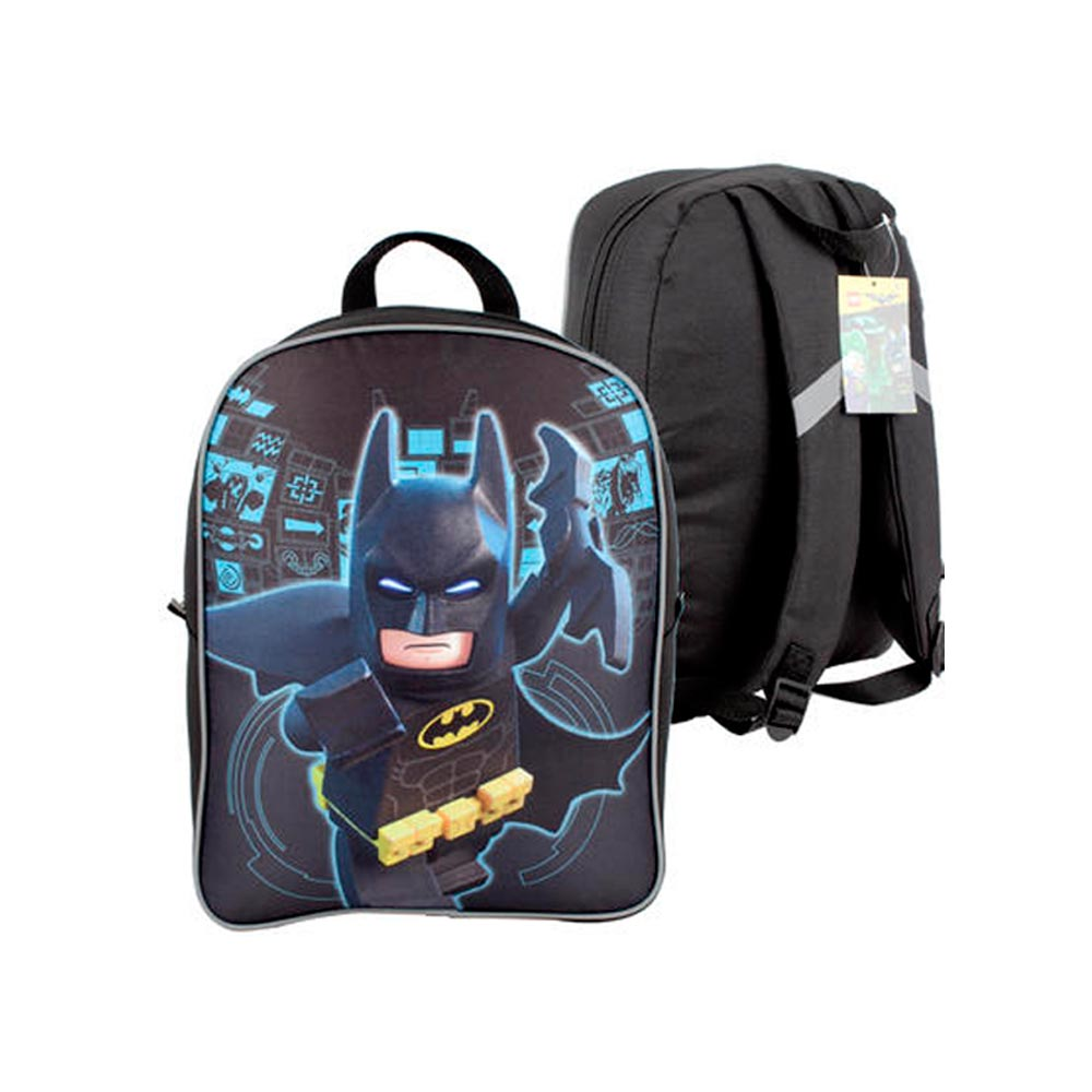 "Batman Lego Movie Backpack School Book Bag Boys Superhero 15.5"" Large Bookbag by 4SGM"