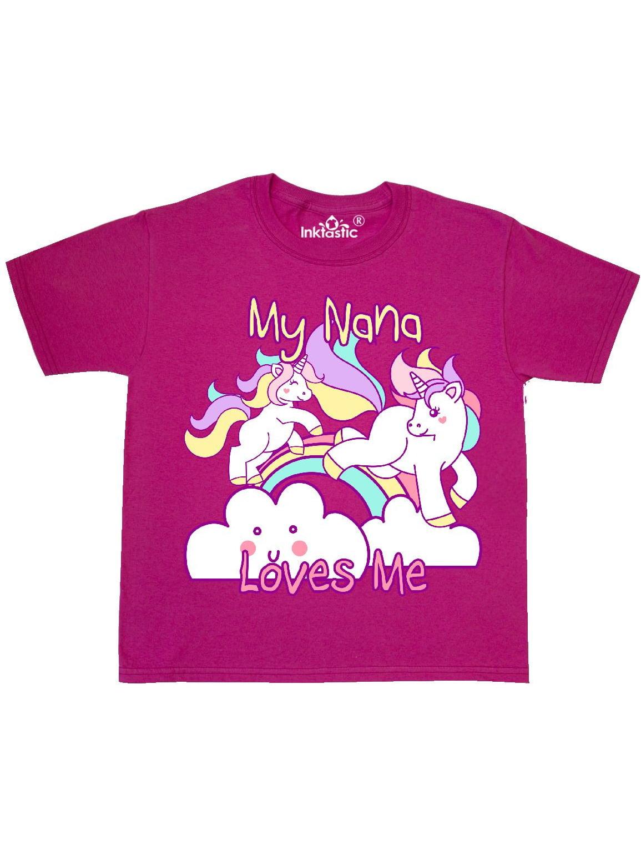 My Nana Loves Me Unicorn Youth T-Shirt