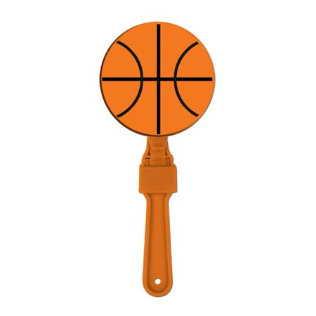 Pack of 24 Orange and Black Basketball Clapper Noisemaker Party Favors 7