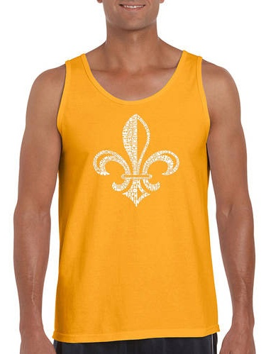 Big Men's tank top - lyrics to when the saints go marching in