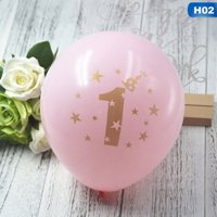 Fancyleo 5pc 2.2g Latex Balloons Baby Shower Gold Glitter Pink Blue Its A Girl First Happy Birthday Balloons Decoration Party Supplies