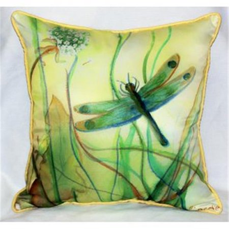 Betsy Drake ZP187 Betsys Dragonfly Throw Pillow, 22 x 22 in. - image 1 de 1