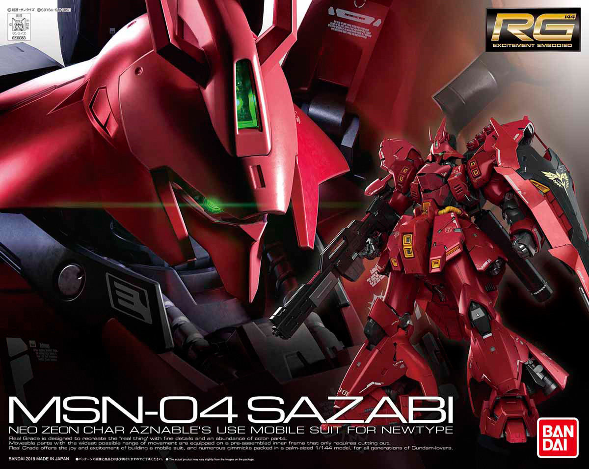 Bandai Hobby Gundam Char's Counterattack Sazabi RG 1 144 Model Kit by Bandai Hobby