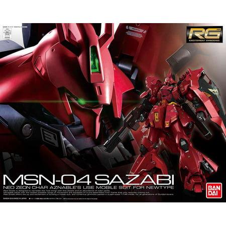 Bandai Hobby Gundam Char's Counterattack Sazabi RG 1/144 Model (Gundam Vs Gundam Next Plus Gundam List)