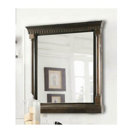 24 In. Mirror In Antique Coffee Finish (24 in. W x 3.5 in. D x 32 in. H (30 lbs.)) 24' Antique Finish Surf Decor
