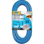 Power Zone ORCW511730 Round Extension Cord, 14/3, 50 ft