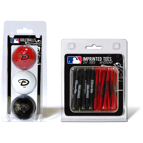 Team Golf MLB Arizona Diamondbacks 3 Golf Balls And 50 Golf Tees