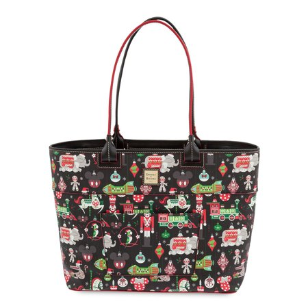 Disney Parks Holiday Christmas Shopper Tote by Dooney & Bourke New with (Dooney And Bourke Double Long Handle Tote)