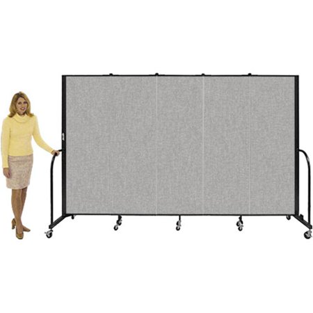 - Screenflex CFSL403 Screenflex 3 Panel / L-5 9    / H-4  Gray-Free Standing Room Dividers-3 Panel CFSL403