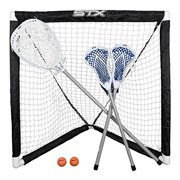 FiddleSTX 3 Player Game Set w/ 2 Player Sticks 1 Goalie Stick Mini Goal & Balls