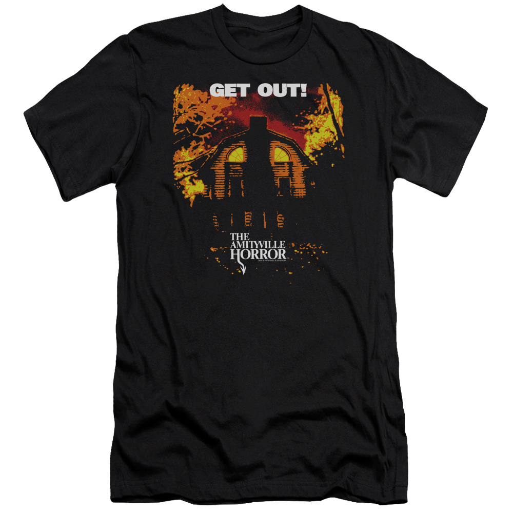 Amityville Horror Get Out Mens Slim Fit Shirt
