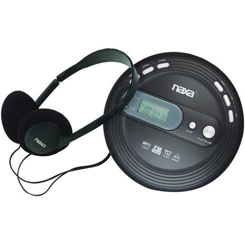 Naxa NPC330 Slim Personal MP3/CD Player with FM Radio