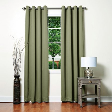 Aurora Home Grommet Top Thermal Insulated 96 Inch Blackout Curtain