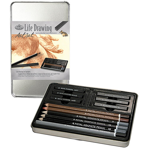 Royal Langnickel Art Set Tin Kits, Life Drawing