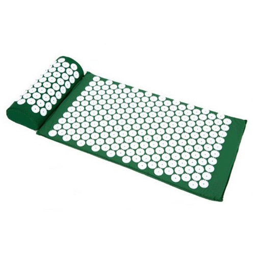 Sivan Health And Fitness Deluxe Acupressure Mat & Pillow Combo Set, Green