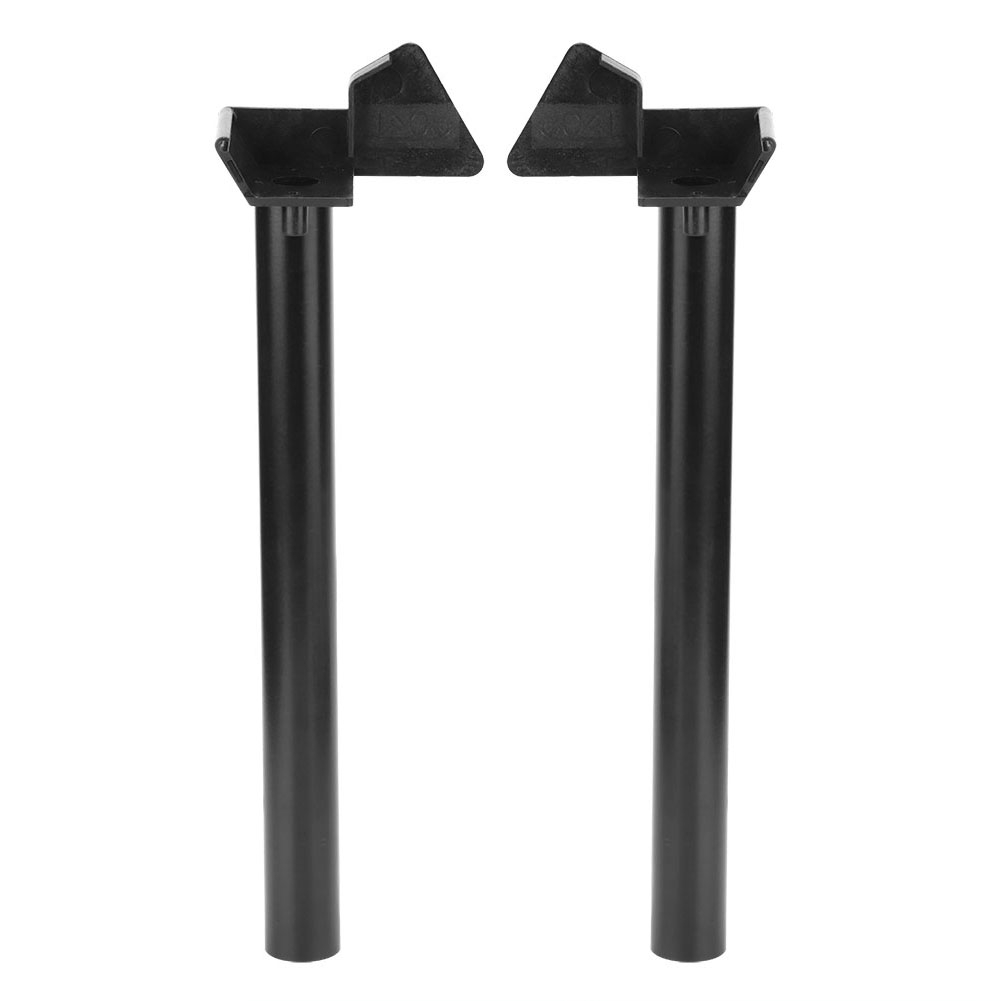 Fdit Greenhouse Rainwater Gutter Water Butt Down Pipe Guttering 2 Kits Shed Drainage Downpipe Accessory Supplies 10.2in Black