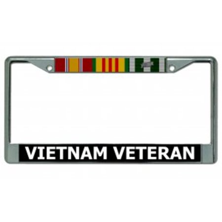 Vietnam Veteran Chrome License Plate Frame - Personalized License Plate Frame