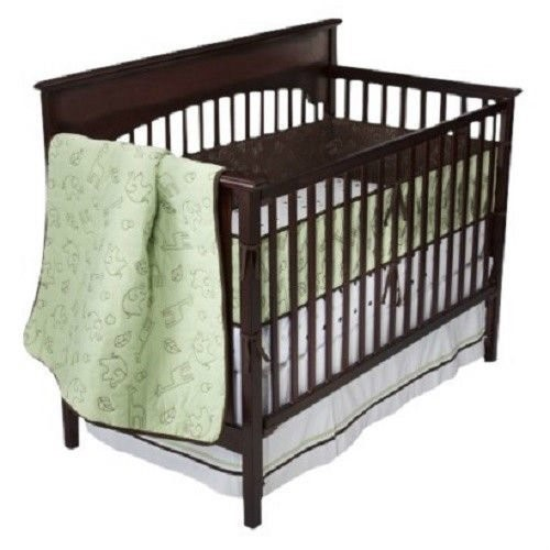"Baby Boom Bananafish 4pc Crib Bedding Set ""Quilted Jungle"""