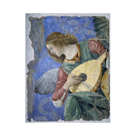 Musical Angel or Angel Musician by Melozzo Da Forli Print Wall (Abstract Musician Wall Art)