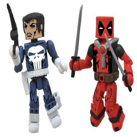 Diamond Select Toys Marvel Minimates Best of Series 2: Punisher and Deadpool, 2-Pack