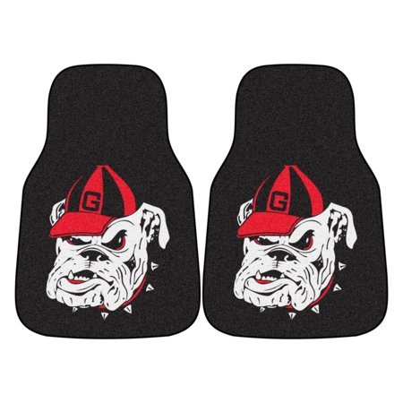 5875 Fanmats College NCAA University of Georgia 17 Inch x 27 Inch Nylon face chromojet-printed washable vehicle 2-pc Carpet Front Car Mat Set Fanmats Milwaukee Brewers Car Mats