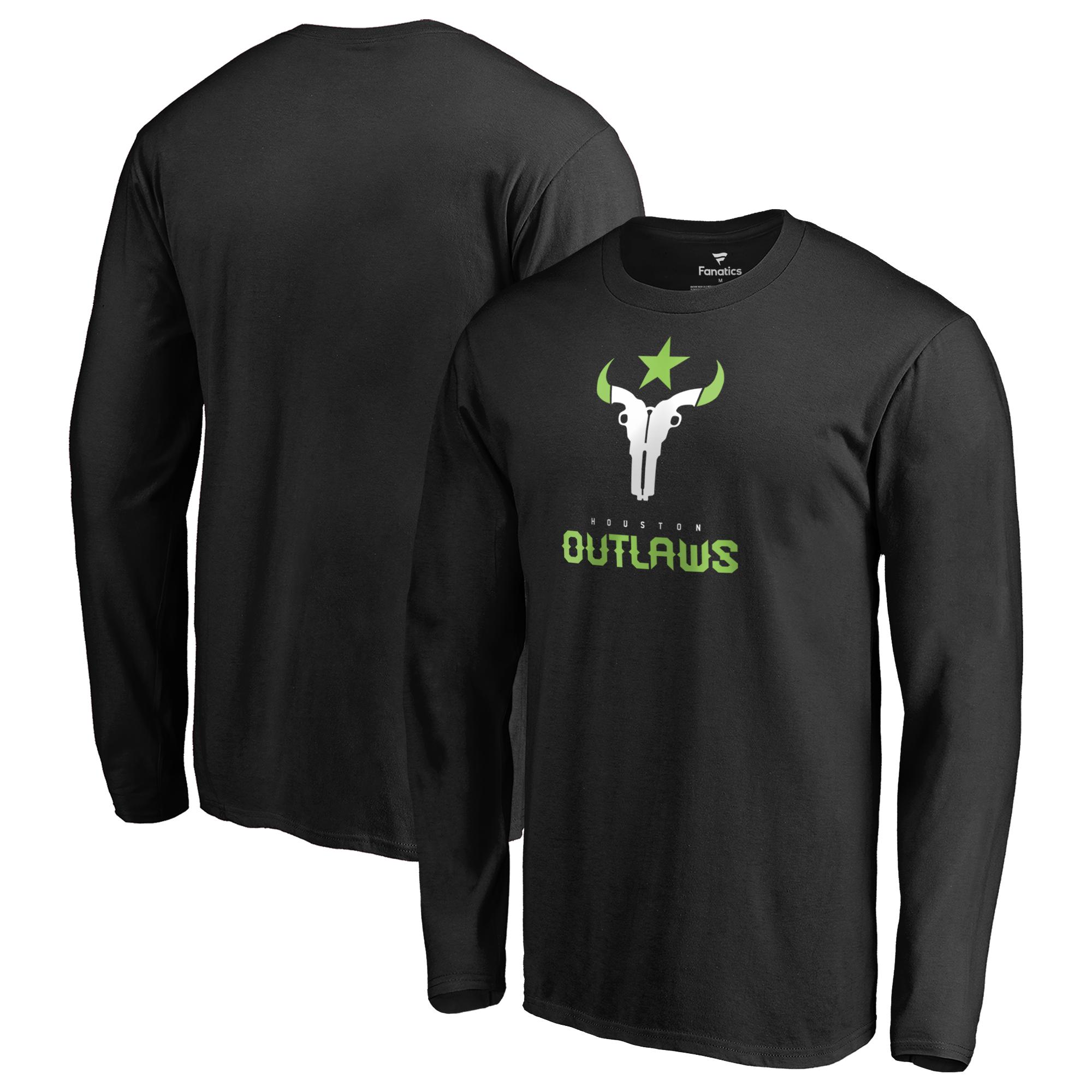 Houston Outlaws Fanatics Branded Team Identity Long Sleeve T-Shirt - Black
