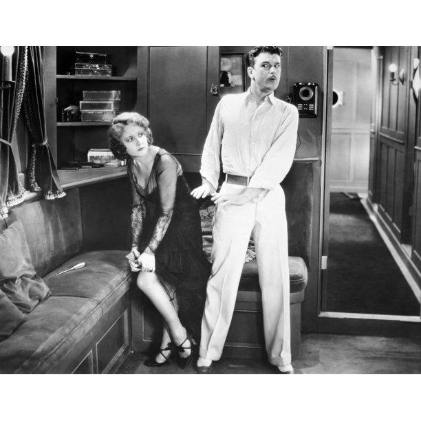 Silent Film Still Woman By Granger: Silent Still Man & Woman NFancy Baggage 1929 Poster Print