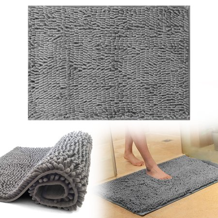 Bathroom Rug Mat, 60x40cm, Extra Soft and Absorbent Shaggy Rugs, Machine Wash Dry, Perfect Plush Carpet Mats for Tub, Shower, and Bath Room ()
