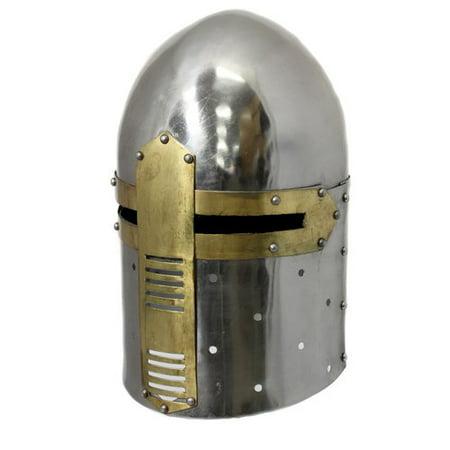 EC World Imports Antique Replica Medieval Knight Sugarloaf Armor Helmet (Knight Helmets)