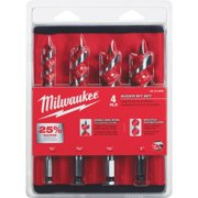 Milwaukee 4-Piece Spur Auger Bit Set