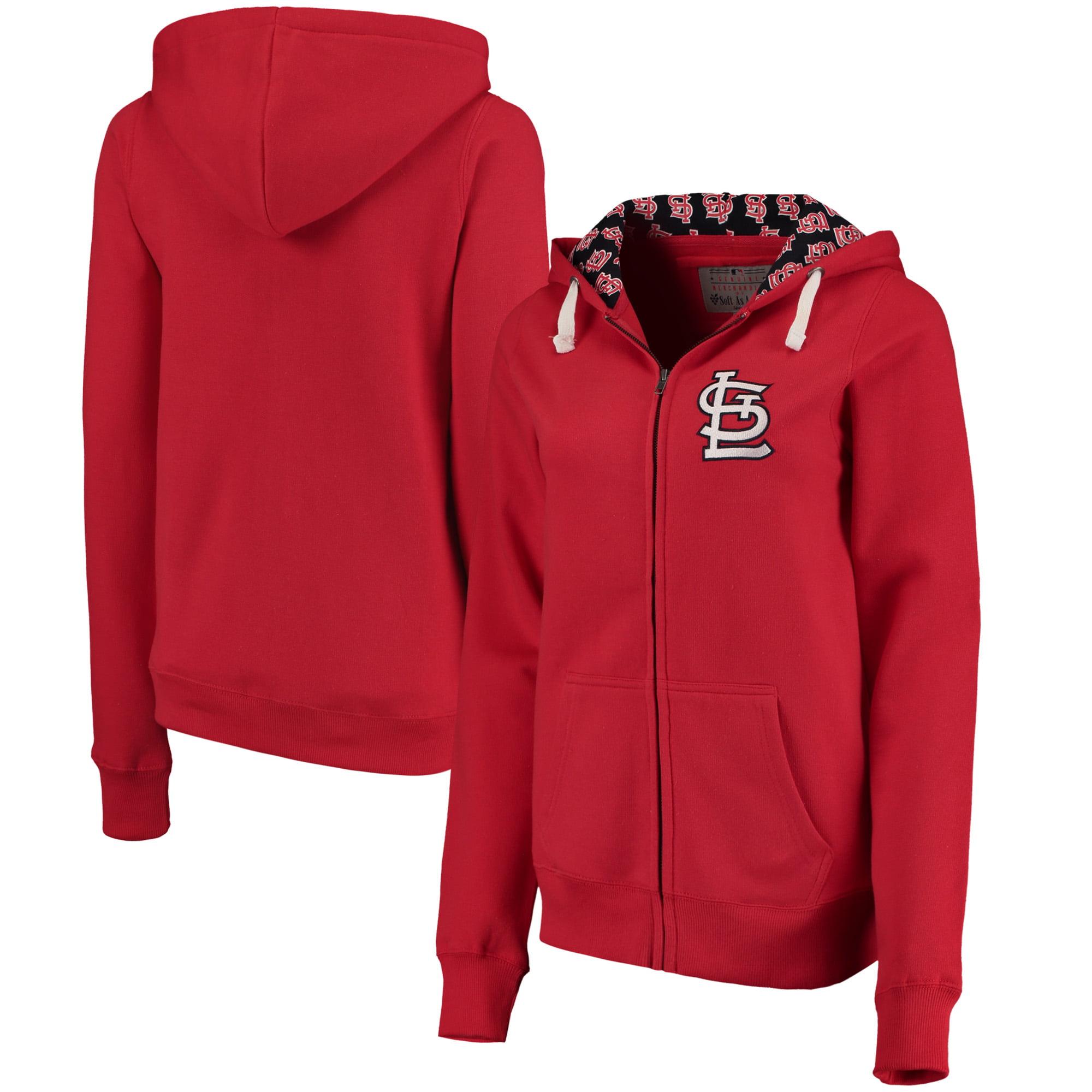 St. Louis Cardinals Soft as a Grape Women's Line Drive Full-Zip Hoodie - Red