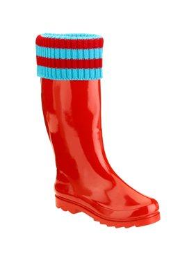 edbde4956 Product Image Forever Young Women s Mock Sock Trim Tall Rain Boot