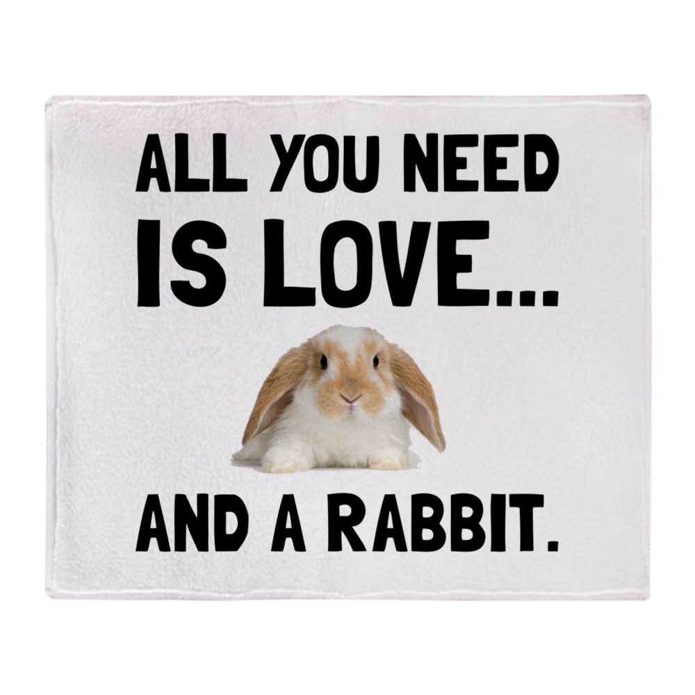 "CafePress Love And A Rabbit Soft Fleece Throw Blanket, 50""x60"" Stadium Blanket by"