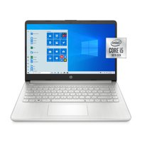 HP 14, Intel Core i5-1035G1, 8GB SDRAM, 256GB SSD, Natural Silver, Windows 10, 14-dq1059wm (Google Classroom Compatible)