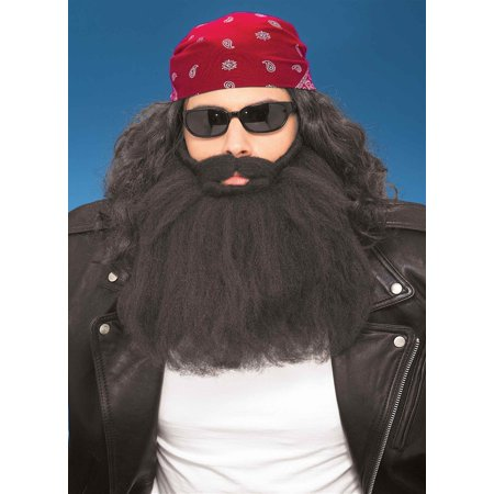 14 Inch Black Beard And Moustache Halloween Costume - Goatee Beard Without Moustache
