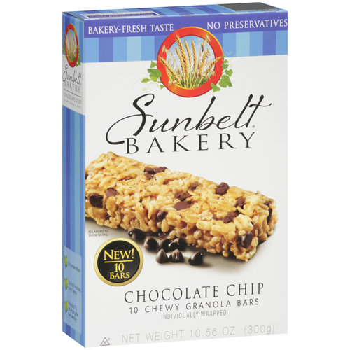 Sunbelt Bakery Chocolate Chip Chewy Granola Bars, 10 count